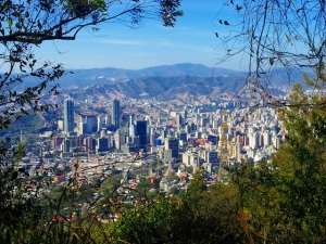 A view of Caracas from the Avila.