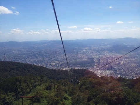A view of Caracas from the cable car.